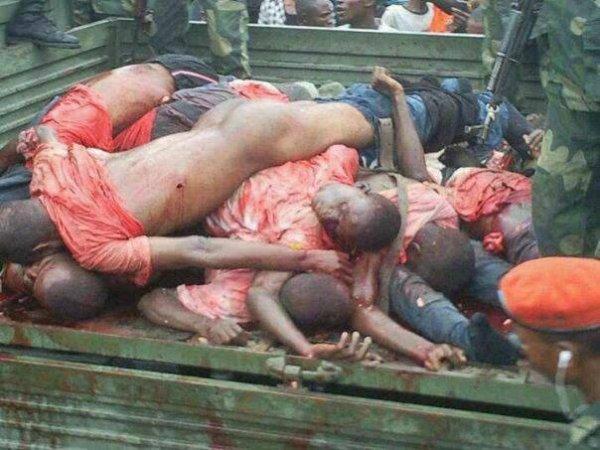 Disciples de Mukungubila, manifestant s non armés assassinés le 30 décembre 2013