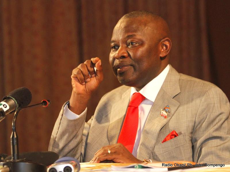 Vital Kamerhe le 5/10/2012 à Kinshasa, lors d'une déclaration politique. Radio Okapi/ Ph. John Bompengo