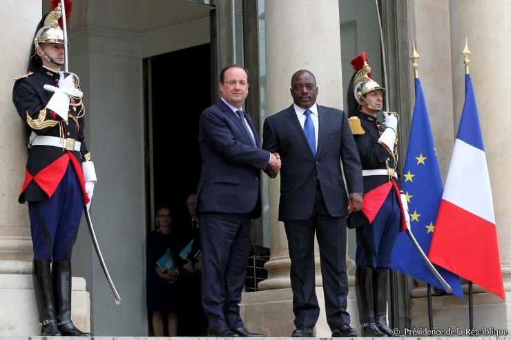 "F Hollande et ""Joseph Kabila"""