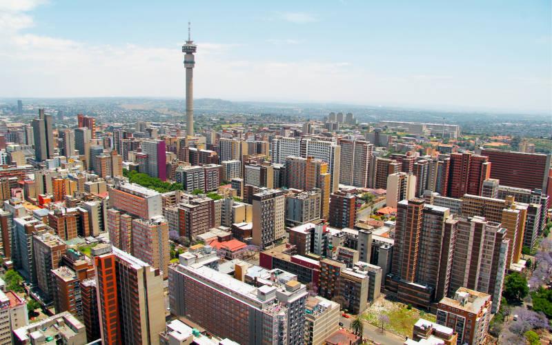 Vue sur Johannesburg